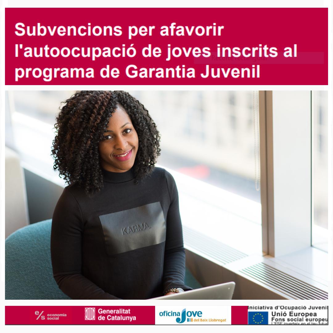convocatòria per a la concessió de subvencions per afavorir l'autoocupació de joves inscrits al programa de Garantia Juvenil per a l'any 2019.